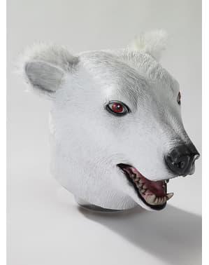 Máscara látex de urso polar