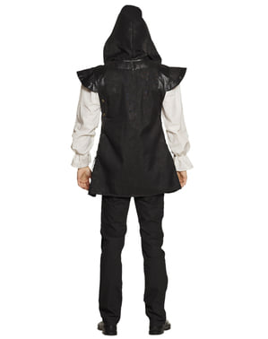 Kostum hitam zaman pertengahan hitam untuk lelaki