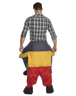 Disfraz a hombros de enanito
