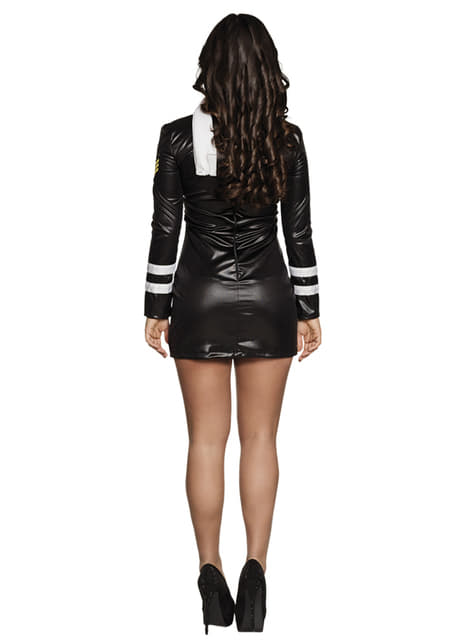 Black air hostess costume for women
