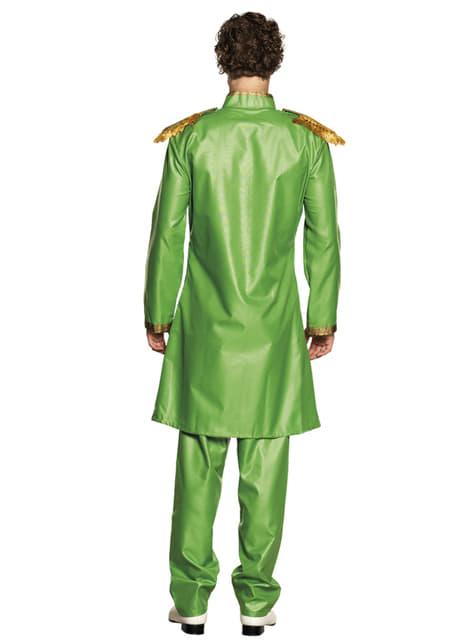 Green Liverpool singer costume for men