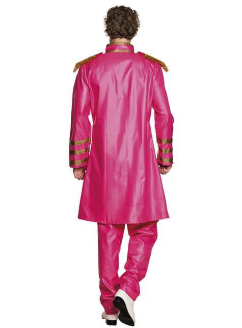 Pink Liverpool singer costume for men