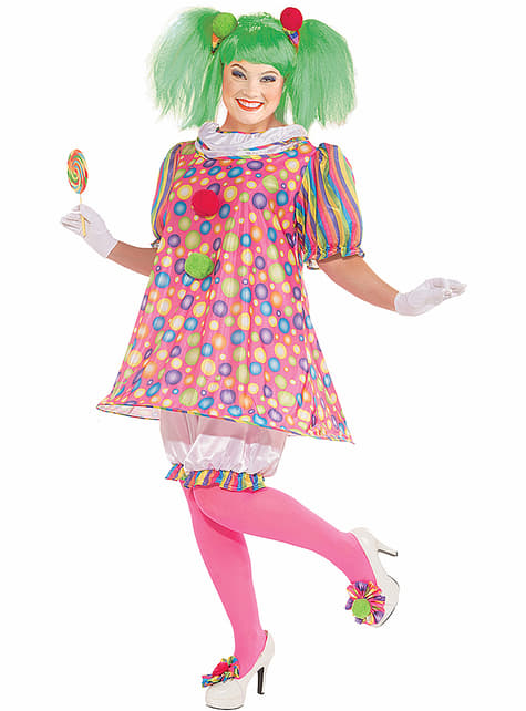 Plus Size Playful Clown Adult Costume
