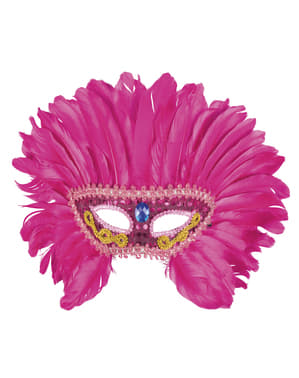Škraboška pro dospělé Pink Flamingo