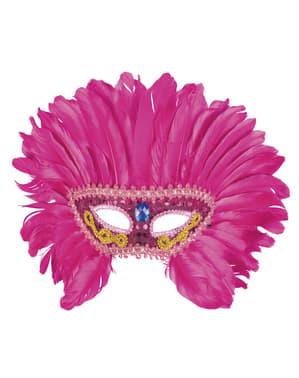 Różowa maska na oczy flaming dla dorosłych