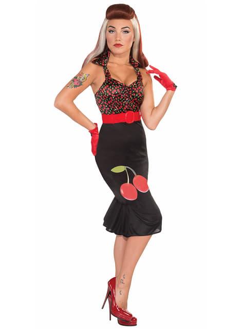 Zwarte jurk pin-up girl