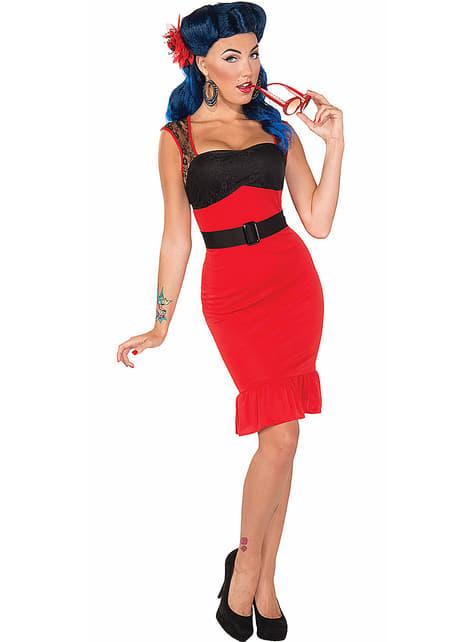 Scarlet Rose Pin Up Kostyme Voksen