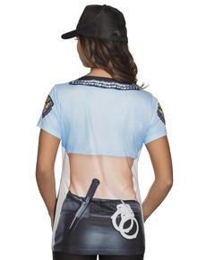 a22acf054 Camiseta de policía sexy para mujer ...