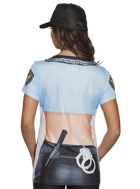 Camiseta de policía sexy para mujer - mujer