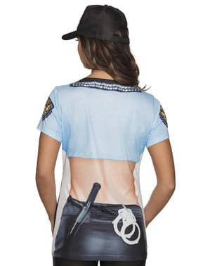 T-shirt de polícia sexy para mulher
