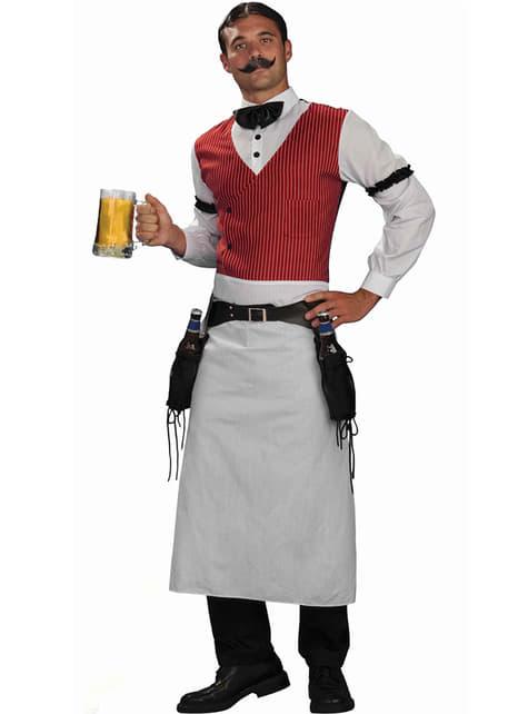 Disfraz de barman talla grande