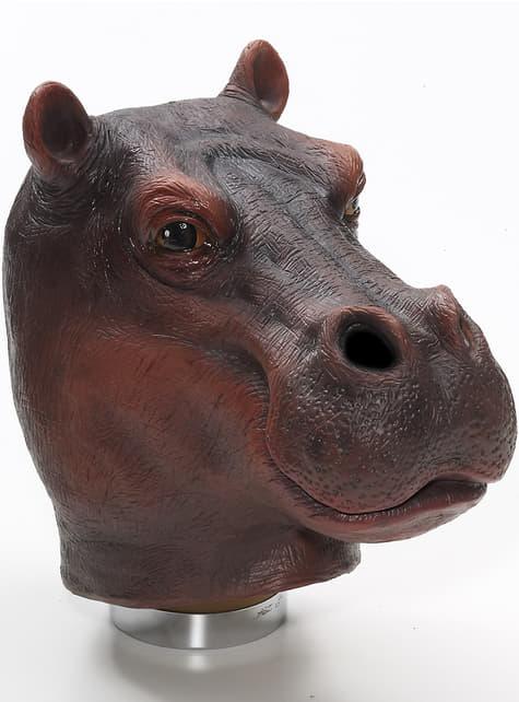 Máscara látex de hipopótamo