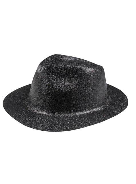 Chapéu de passagem de ano preto para adulto