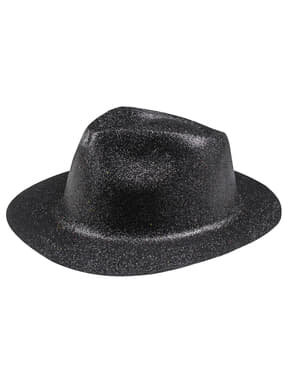 Black New Year's Eve hat for adults