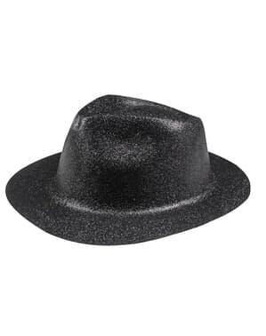 Чорний новорічний капелюх для дорослих