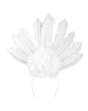 Tiara di carnevale brasiliano bianca per donna