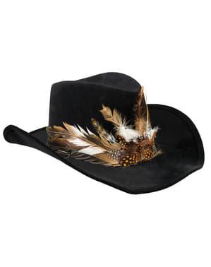 Sombrero de hechicero vudú para adulto