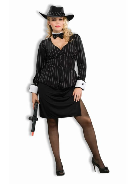 Plus Size Lady Gangster Adult Costume