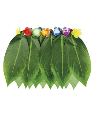 חצאית הוואי ירוקה למבוגרים