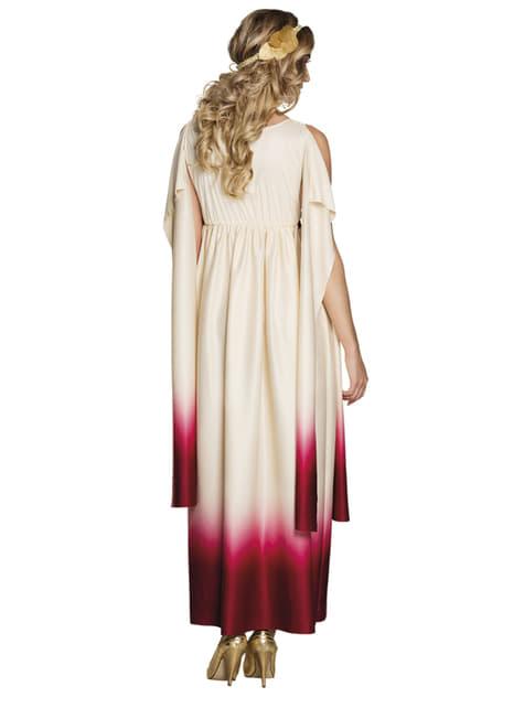 Disfraz de diosa griega blanco y rosa para mujer - mujer