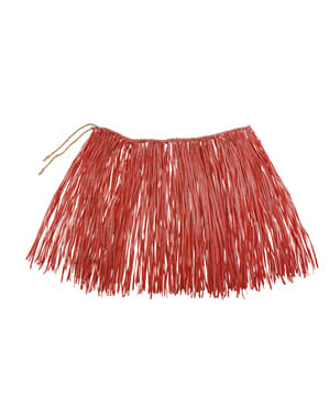 Red Hawaiian skirt for adults