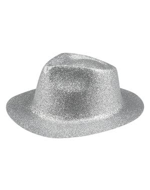 Chapeau nouvel an argenté adulte