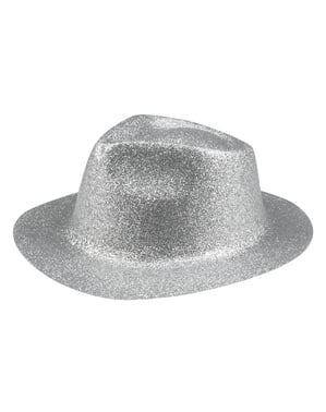 Silver New Year's Eve hat for adults