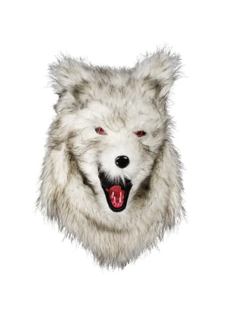 Máscara de hombre lobo moving mouth para adulto