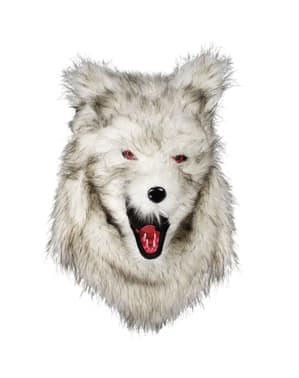 Topeng serigala dengan mulut bergerak untuk orang dewasa