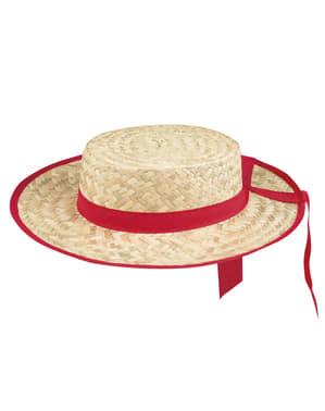 Гондолиер сламена шапка