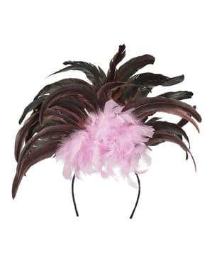 Tiara de carnaval brasileño rosa para mujer