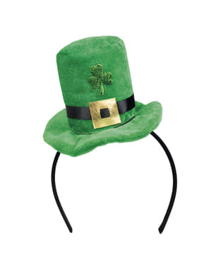 Mini pălărie leprechaun St. Patrick pentru adult