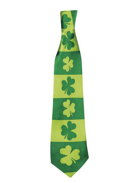Corbata de tréboles San Patricio para adulto