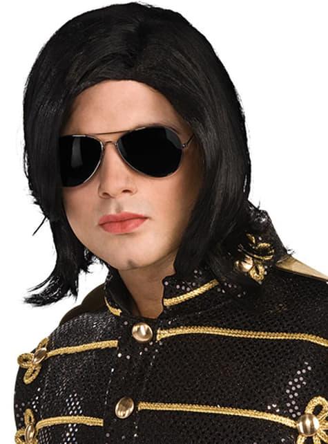 Peluca y gafas de Michael Jackson
