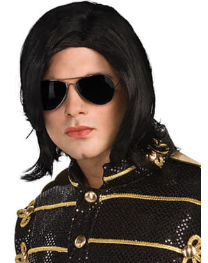 Michael Jackson Wig & Glasses