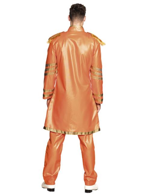 Oranje Liverpoolse zanger kostuum voor mannen