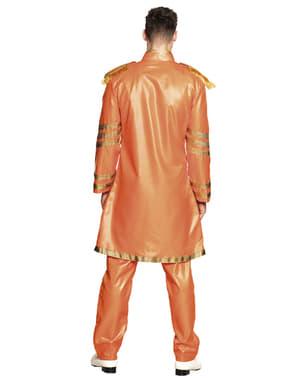 Costum de cântăreț din Liverpool portocaliu pentru bărbat
