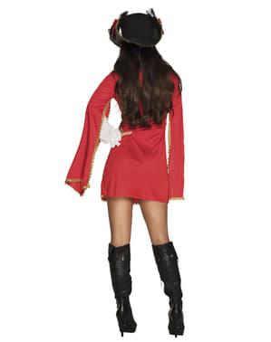Rød musketer kostyme til dame