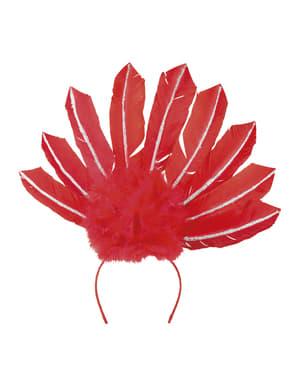 Tiară de carnaval brazilian roșie pentru femeie
