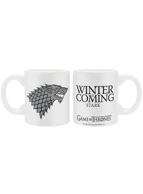 Pack regalo Stark deluxe: vaso, taza y llavero - Juego de Tronos - oficial