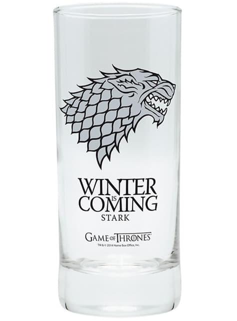 Zestaw prezentowy deluxe Stark (szklanka, kubek i brelok do kluczy) - Gra o Tron