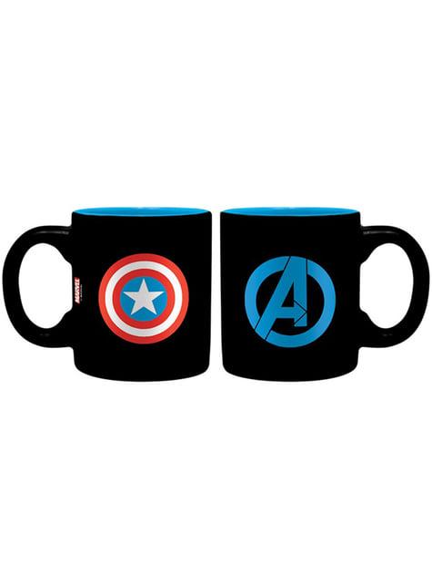 Pack regalo deluxe: vaso, taza y llavero - Capitán América - oficial