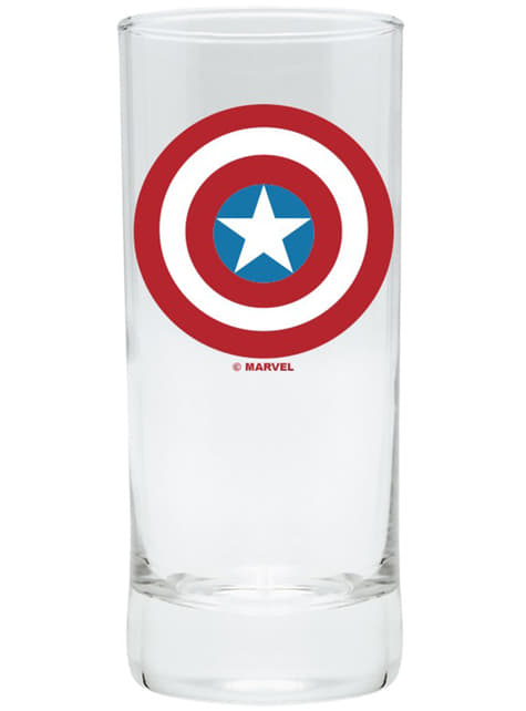 Coffret cadeau deluxe: verre, tasse et porte-clés - Capitán América