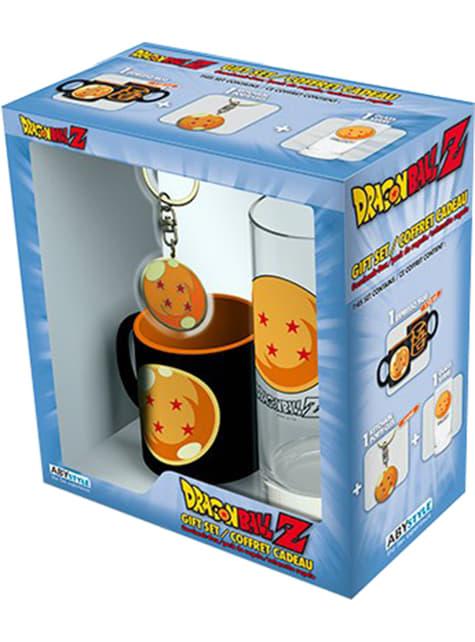Kristallkugel Geschenk Set: Glas, Tasse und Schlüsselanhänger - Dragon Ball