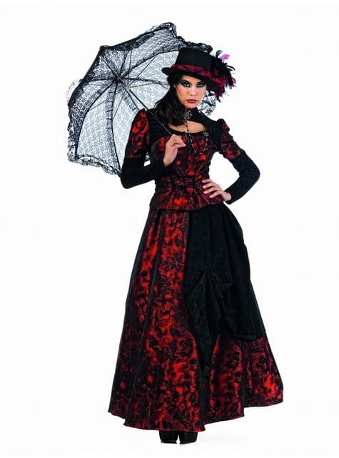 Roxaria Kostüm Gothic Rot