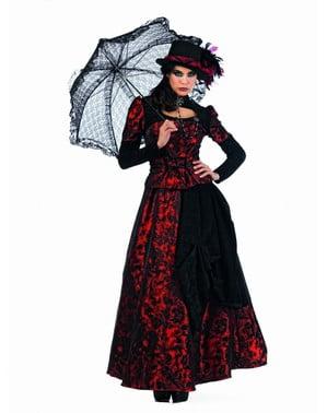 Dámský kostým gotička červený