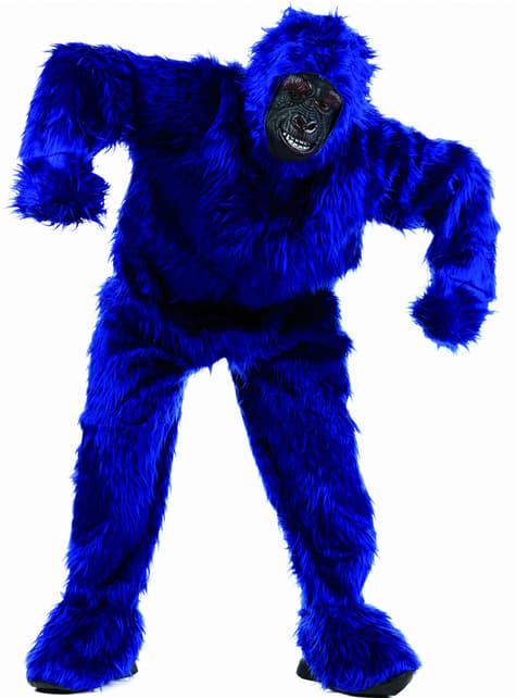 Disfraz de gorila gorilón azul