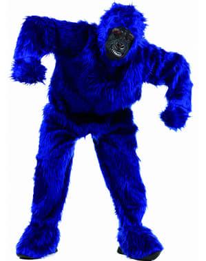 Costume da gorilla azzurro