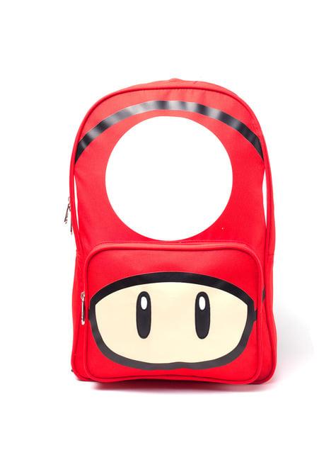 Mochila de champiñón rojo - Super Mario Bros