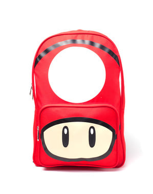 रेड मशरूम बैकपैक - सुपर मारियो ब्रदर्स